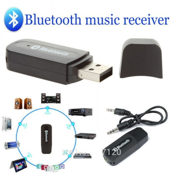 New-USB-Bluetooth-Music-Receiver-Adapter-3-5mm-Audio-jacket-font-b-blue-b-font