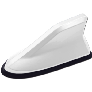 антена плавник с fm-усилителем сигнала для автомобиля. белая